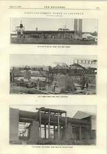 1915 Portland Cement Works Rotary Kilns Erected Building Mixing Tanks