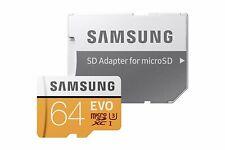 64GB Samsung EVO 100MB/s Class 10 UHS-I SDXC MicroSD Karte Speicherkart Adapter
