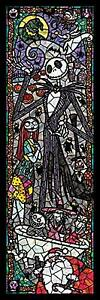 456 piece jigsaw puzzle Stained Art Nightmare Before Christmas (18.5x55.5cm)