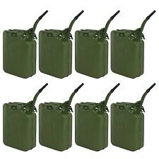 8pcs Jerry Can 20L 5 Gallon Backup Steel Tank Fuel Gasoline Military Green