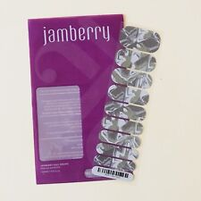 Jamberry Nail Wraps Sea Glass Half Sheet Glitter Shimmer Green Silver Marbled