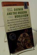 Darwin and the Modern World View by John C Greene - Mentor MP485 - 1963