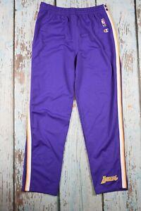 champion Lakers  pants vintage track purple poppers size L large