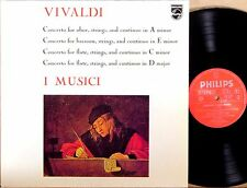 PHILIPS ITALY Vivaldi I MUSICI Concertos for Oboe Bassoon Flute 835 058 DXY
