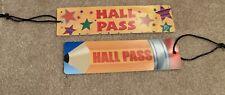2 Hall Pass Classroom Pencil And Stars School