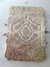 1859 Victorian Solid Silver Card Case Edward Smith(R1742)