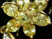 10K Sapphire Flower Floral Cluster with Diamonds Pendant Gems TV