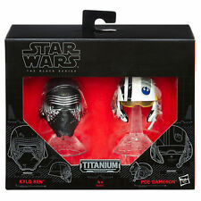 Star Wars Black Series Titanium Kylo Ren & Poe Dameron Helmets Damaged box