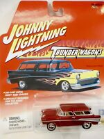 JOHNNY LIGHTING  1957 CUSTOM CHEVY NOMAD - 1:64TH SCALE  DIE-CAST