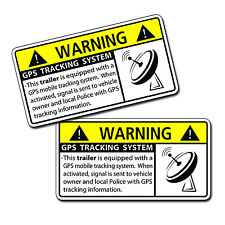 GPS Anti Theft TRAILER Security System Warning Alarm Safety Sticker Decal ATV HD