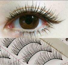 10Pairs Black Long Cross False Eyelashes Makeup Natural Fake Thick Eye Lashes