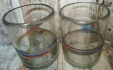 RECYCLED MEXICAN GLASS MULTICOLOURED TUMBLERS SET OF 2 ETHICAL SOURCE FAIR TRADE
