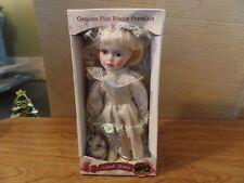 "9"" Tall Keepsake Memories Porcelain Doll in Silver Dress #2593"