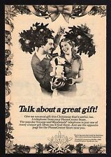 1980 SNOOPY TELEPHONE AD~PEANUTS~WOODSTOCK~CHRISTMAS GIFT~CHARLES SCHULTZ