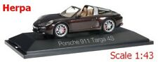 Porsche 911 Targa 4S brun mahagon métallisé - HERPA -  Echelle 1/43