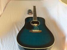Ashton SPD25L TBB Acoustic Guitar Left Handed | Transparent Blue Burst