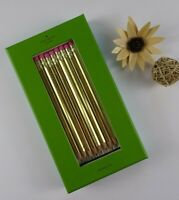Kate Spade AS GOOD AS GOLD 8-piece PENCIL SET With Playful Texts New in Box