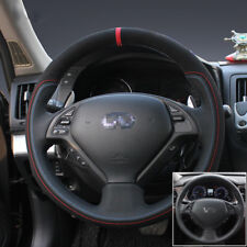 For Infiniti EX25 Hand-stitched Interior Car Steering Wheel Cover Black Leather