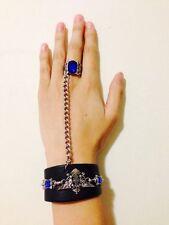 Anime Black Butler Kuroshitsuji Sapphire Ring Bracelet Set Bracelet Strap Gifts
