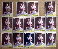 1985 - Topps #300 - Rod Carew Angels HOF - 14ct Card Lot
