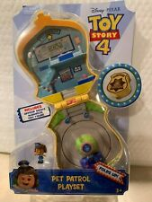 DISNEY PIXAR TOY STORY 4  PET PATROL PLAYSET WITH MINI FIGURE OFFICER MCDIMPLES