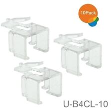 10-Pack RJ45 8P8C Quick Snap Latch Replacement Clear, CablesOnline U-B4CL-10