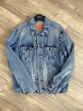 Levi's Trucker Jacket, Mens Size Large, Light Blue