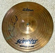 "CHAD SMITH SIGNED RED HOT CHILI PEPPERS RHCP 13"" DRUM CYMBAL KIEDIS FLEA"