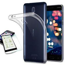 Silikoncase Transparent Tasche + 0,3 H9 Panzerglas für Nokia 3 Hülle Neu Cover