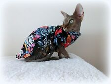 TATTOO stretch, Sphynx cat clothes, pet clothes, hairless cat, Sphynx clothes M