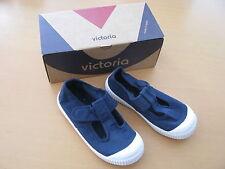 Victoria Kinder Sneaker Gr.31 blau weiß Textil Ballerina Klettverschluß Neu OVP