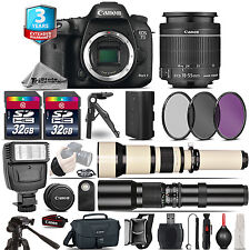 Canon EOS 7D Mark II Camera + 18-55mm + 650-1300mm + 500mm + 3yr Warranty + 64GB
