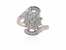 Pave 1.25 Cts Round Brilliant Cut Natural Diamonds Engagement Ring In 18K Gold