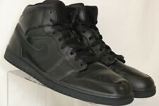Nike Air Jordan 1 One Retro Mid Team Black High Top 554724-030 Men's US 15