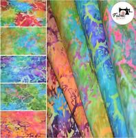 "Printed Premium Bali Batik 100% Fabric 44"" Wide High Quality 5 Colours"