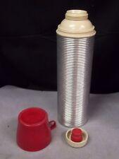 Vintage Corrugated Aluminum Usa Thermos Quart Size Model 2484
