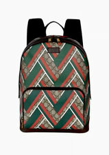Authentic Chevron Gucci 406370 GG Supreme Backpack Large