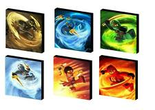 NINJAGO characters CANVAS ART BLOCKS/ WALL ART PLAQUES/PICTURE lego YOU CHOOSE 3