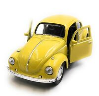 Modellino Auto VW Maggiolino Beetle Cabrio Giallo Auto 1:3 4-39 (Licenza)