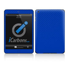 iPad Mini Skin - Blue Carbon Fibre Skin by iCarbons