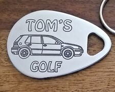 VOLKSWAGEN GOLF personalised keyring 98-03 5 dr MK4 ANY NAME engraved