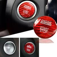 Carbon Fiber Engine Start Stop Button Cover Sticker For Mercedes Benz C GLC GLA