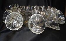 Hazel Altas Hazel Ware Colonial Swirl Clear Punch Bowl 12 Cups in original box