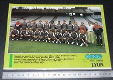 CLIPPING POSTER FOOTBALL 1987-1988 D2 OLYMPIQUE LYONNAIS LYON OL GERLAND GONES
