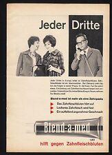 3w776/vieja publicitarias-de 1961-pasta de dientes Blend-A-MED