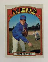 1972 Topps Tom Seaver # 445 Baseball Card New York Mets NY HOF