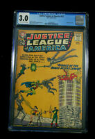 JUSTICE LEAGUE #13 CGC 3.0 SILVER AGE (DC) AUG. 1962