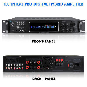 New Technical Pro 3500 Watts Digital Hybrid Amplifier w USB/SD Card & Bluetooth