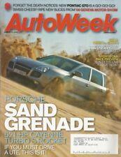 AUTOWEEK 2006 MAR 13 - PONTIAC GTO, CAYENNE T, BMW 545i, '14 STEARNS-KNIGHT 6