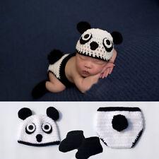Cute Baby Boy Infant panda Costume Photo Photography Prop 0-6 Months Newborn